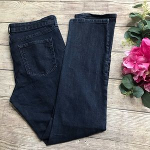 Gap Dark Wash Slim Straight Stretch Jeans